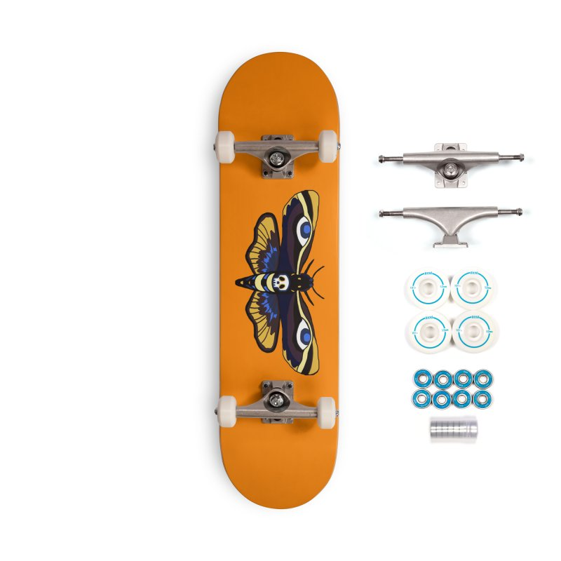 Death Head Moth Accessories Skateboard by Whiski Tee