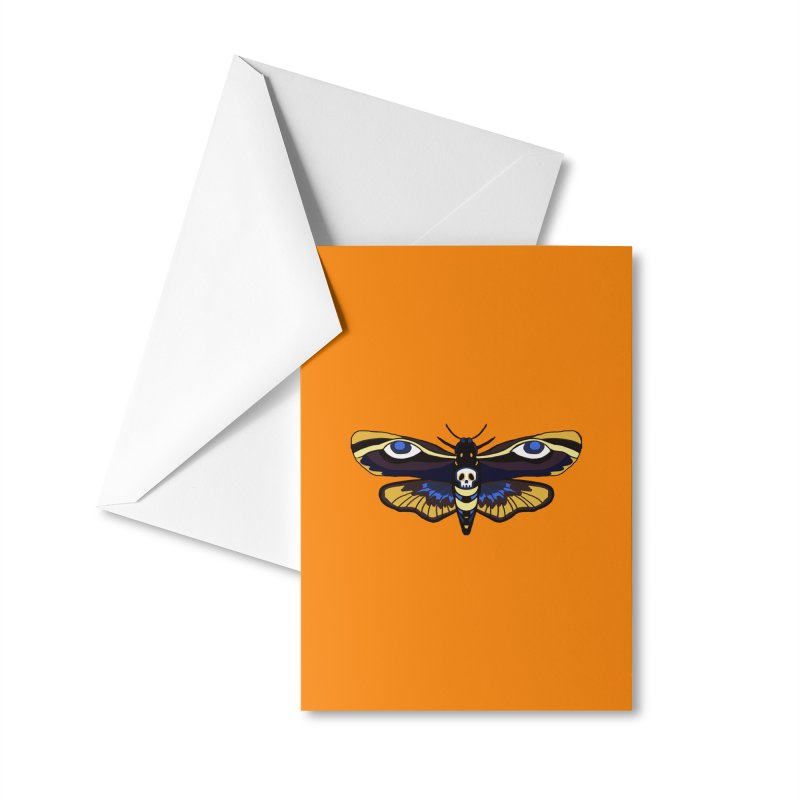 Death Head Moth Accessories Greeting Card by Whiski Tee