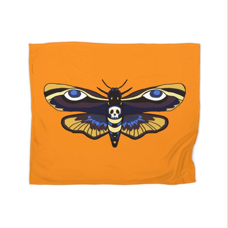 Death Head Moth Home Blanket by Whiski Tee