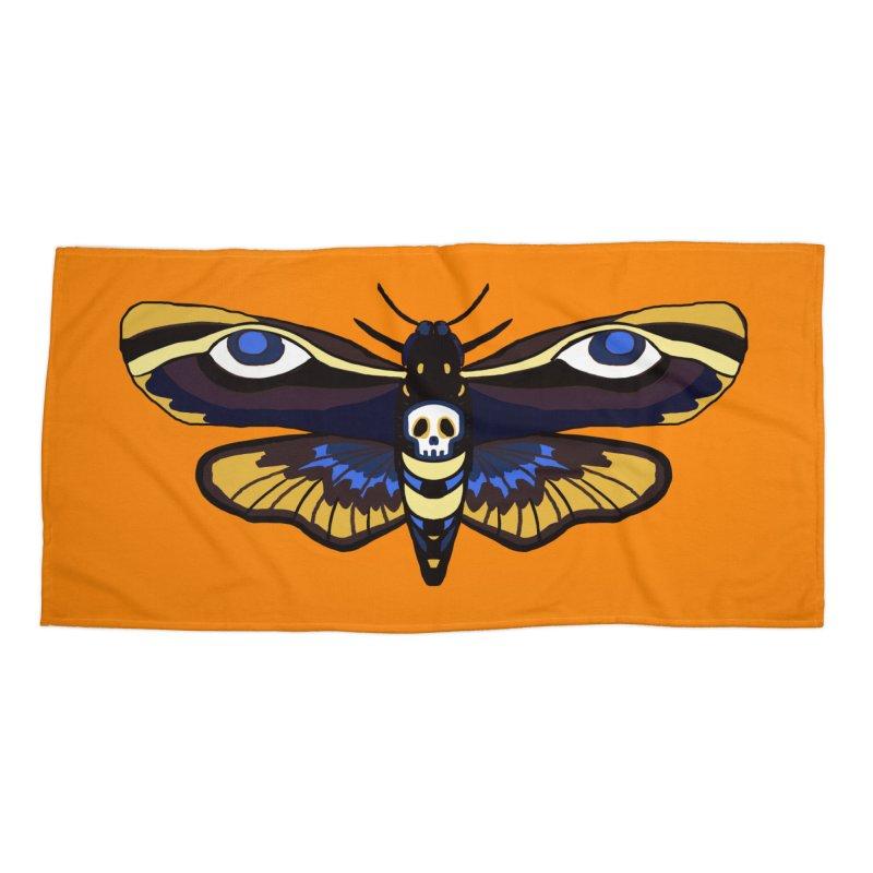 Death Head Moth Accessories Beach Towel by Whiski Tee