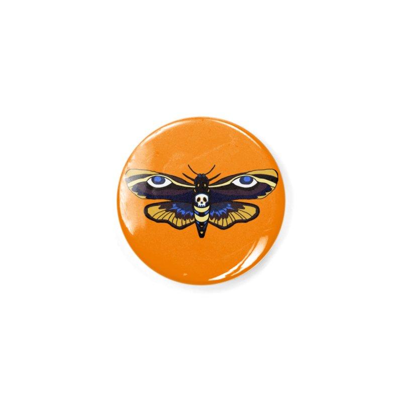 Death Head Moth Accessories Button by Whiski Tee