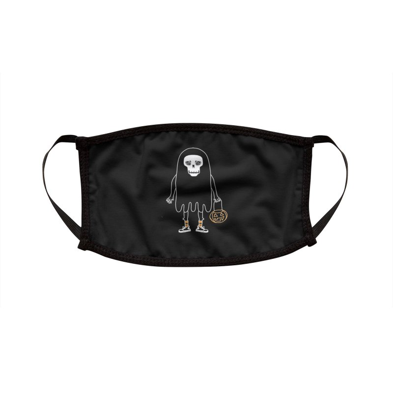 Trick or Treat Skully Ghost Accessories Face Mask by Whiski Tee