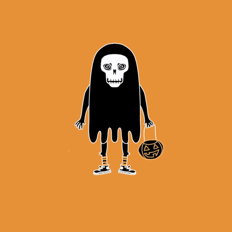 Trick or Treat Skully Ghost Women's Zip-Up Hoody by Whiski Tee