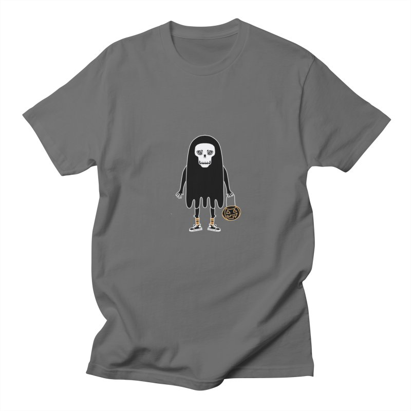 Trick or Treat Skully Ghost Men's T-Shirt by Whiski Tee