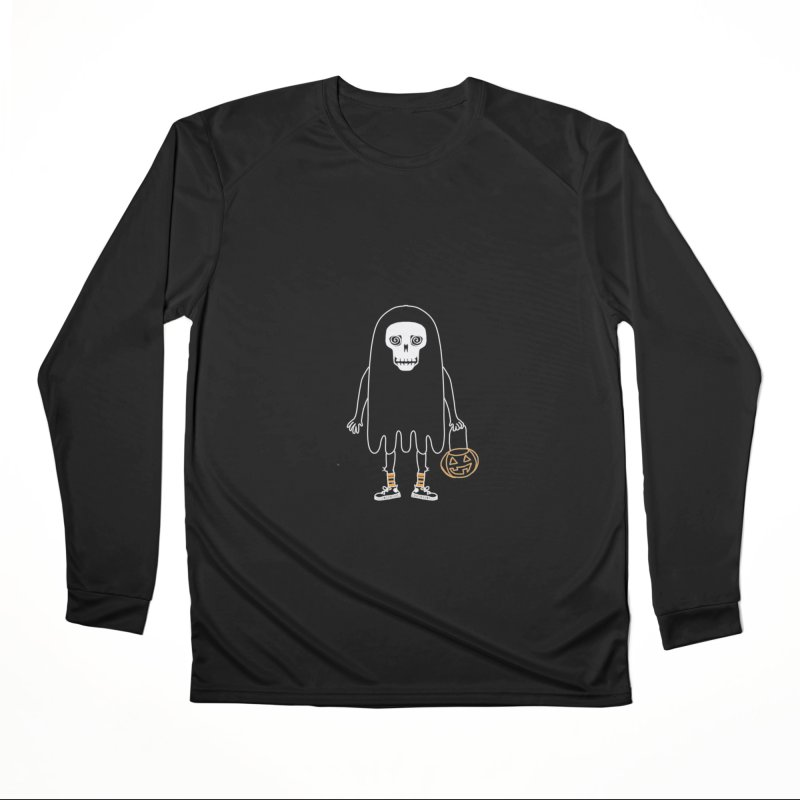 Trick or Treat Skully Ghost Women's Longsleeve T-Shirt by Whiski Tee
