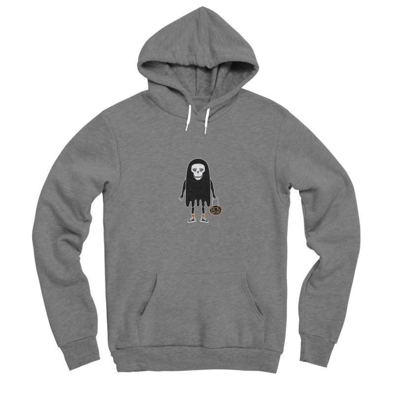 Trick or Treat Skully Ghost Men's Pullover Hoody by Whiski Tee