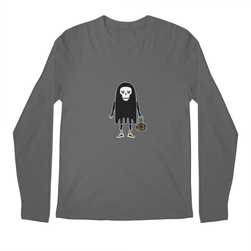 Trick or Treat Skully Ghost Men's Longsleeve T-Shirt by Whiski Tee