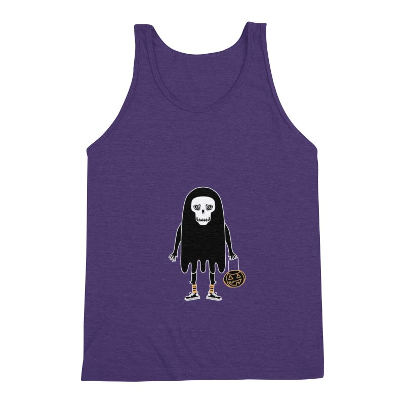 Trick or Treat Skully Ghost Men's Tank by Whiski Tee