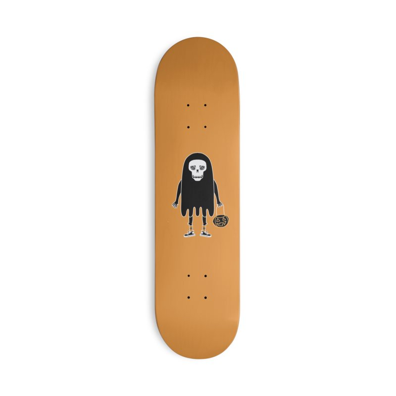 Trick or Treat Skully Ghost Accessories Skateboard by Whiski Tee