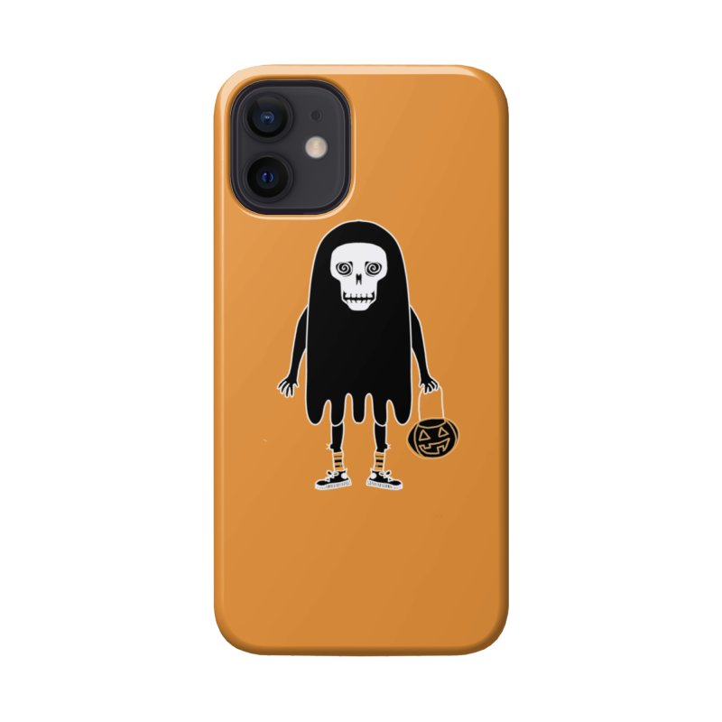 Trick or Treat Skully Ghost Accessories Phone Case by Whiski Tee