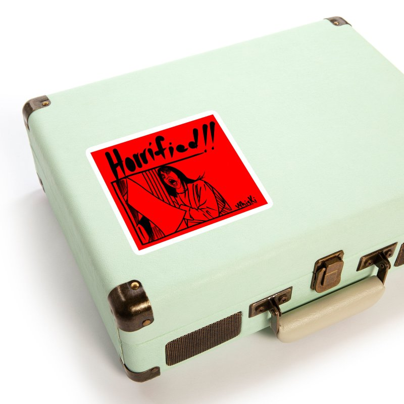 Horrified Seeing Red Edition Accessories Sticker by Whiski Tee