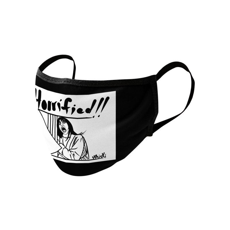 Horrified The Shining Black and White Comic Strip Edition Accessories Face Mask by Whiski Tee
