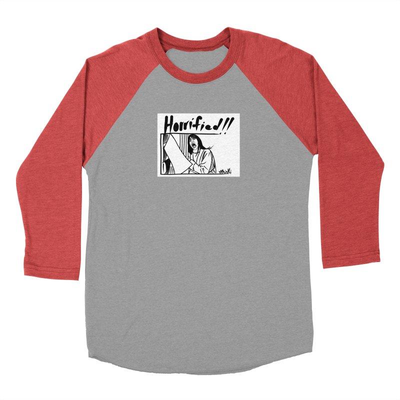 Horrified The Shining Black and White Comic Strip Edition Men's Longsleeve T-Shirt by Whiski Tee