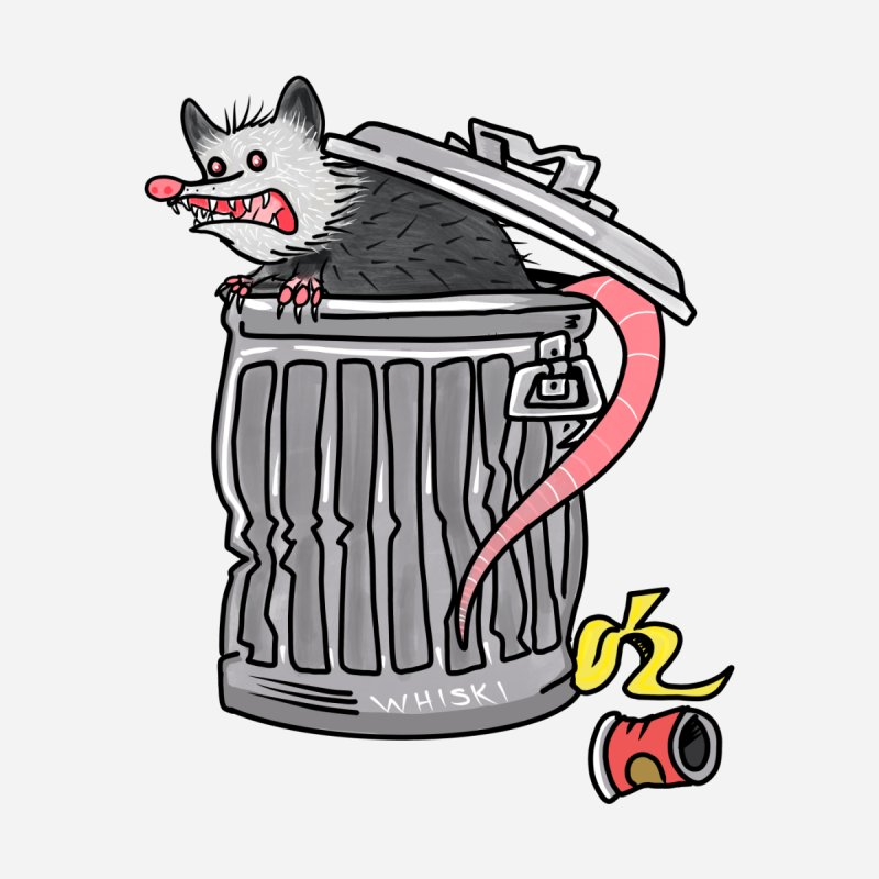 Trash Possum Accessories Skateboard by Whiski Tee