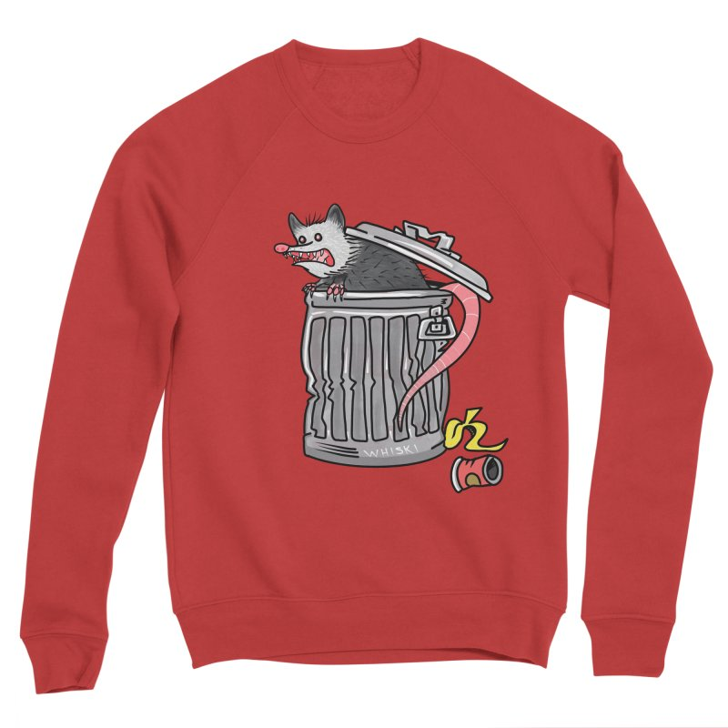 Trash Possum Men's Sweatshirt by Whiski Tee