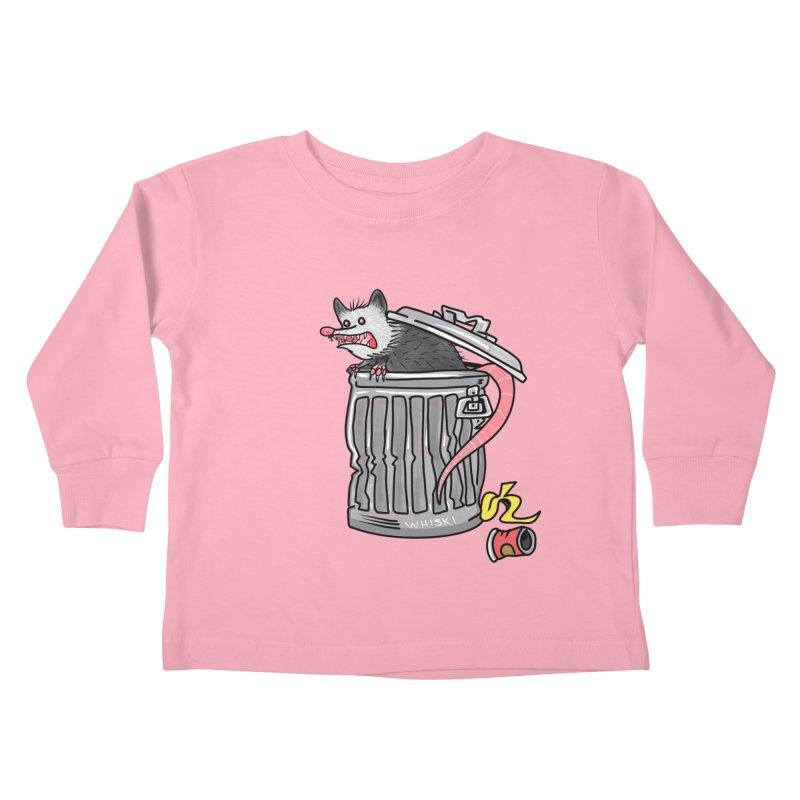 Trash Possum Kids Toddler Longsleeve T-Shirt by Whiski Tee