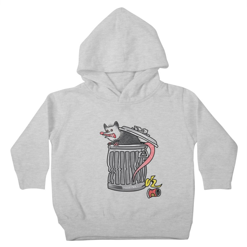 Trash Possum Kids Toddler Pullover Hoody by Whiski Tee