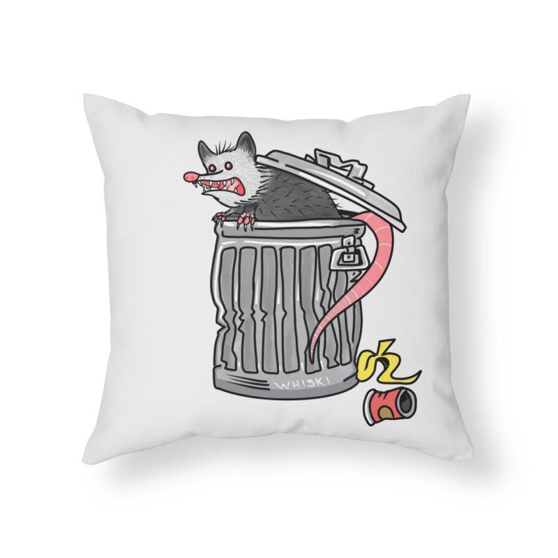 Trash Possum Home Throw Pillow by Whiski Tee
