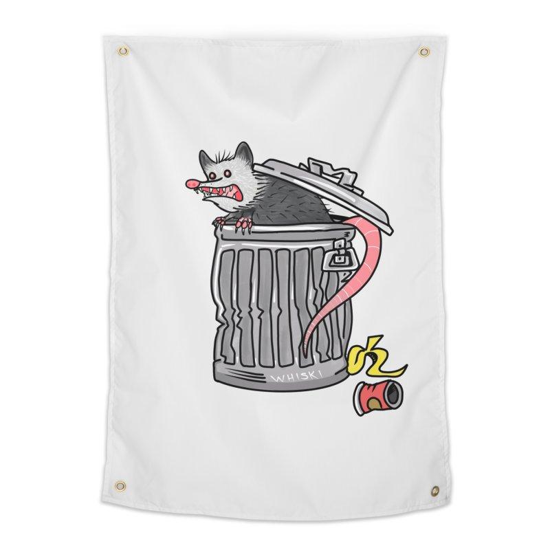 Trash Possum Home Tapestry by Whiski Tee