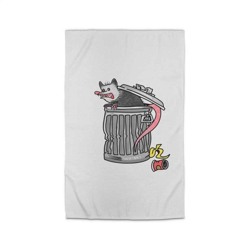 Trash Possum Home Rug by Whiski Tee