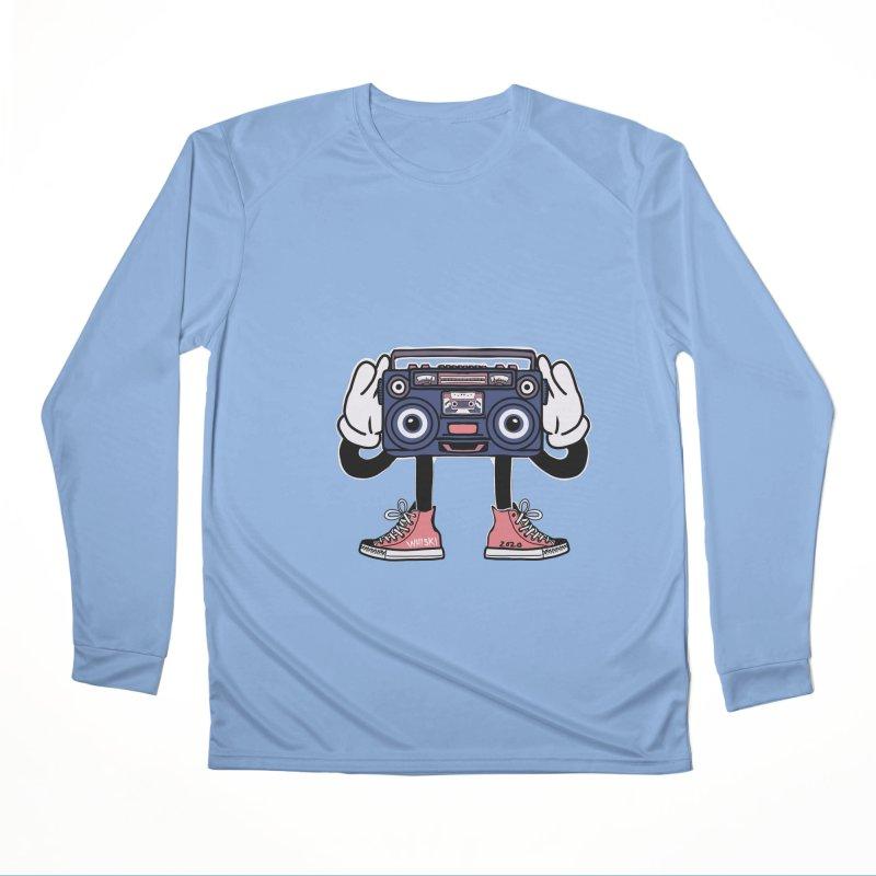 Cartoon Boom Box Radio Head Women's Longsleeve T-Shirt by Whiski Tee