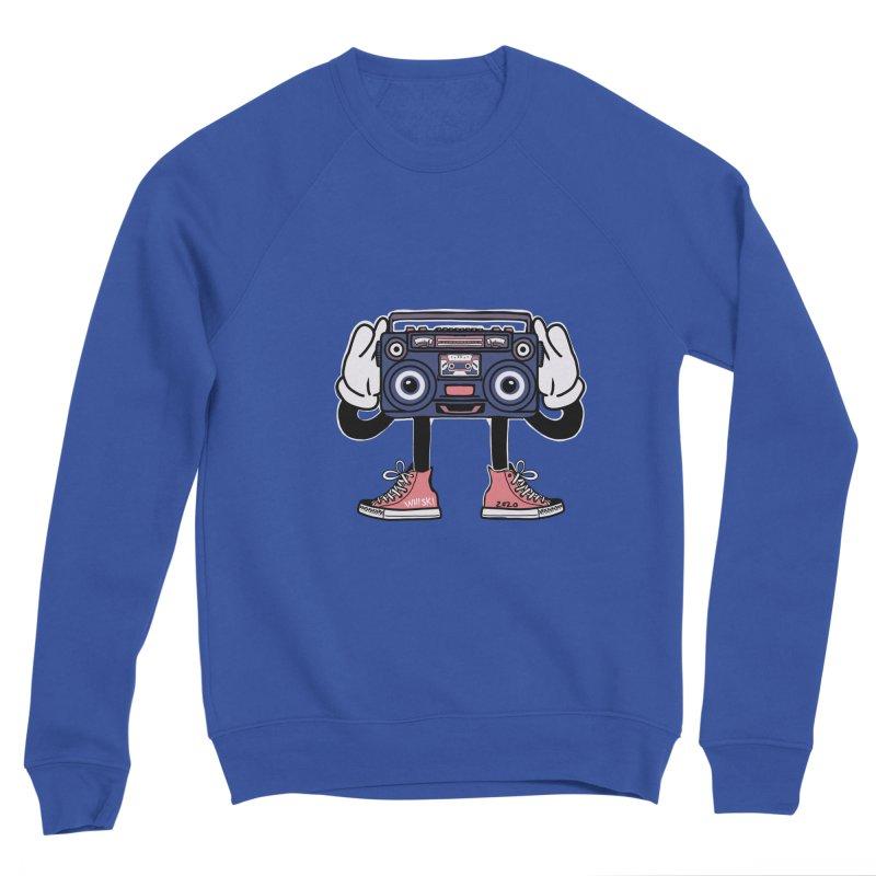 Cartoon Boom Box Radio Head Men's Sweatshirt by Whiski Tee
