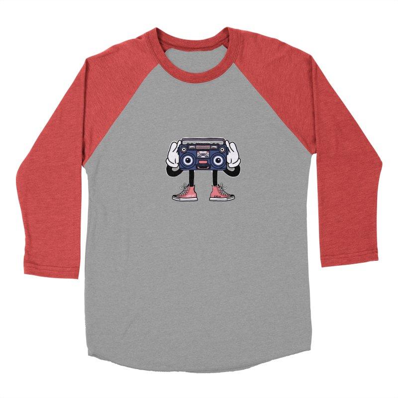 Cartoon Boom Box Radio Head Men's Longsleeve T-Shirt by Whiski Tee
