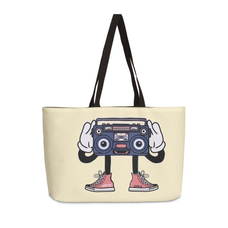 Cartoon Boom Box Radio Head Accessories Bag by Whiski Tee