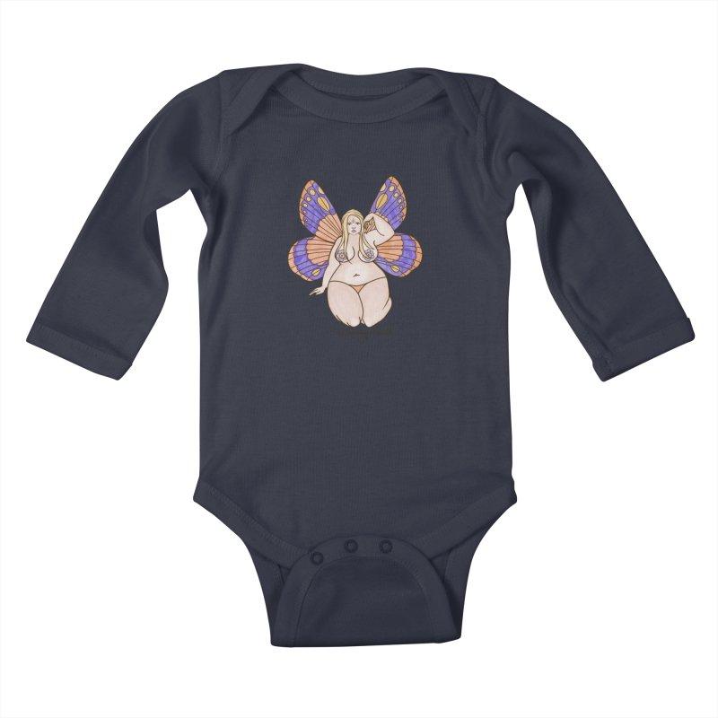Fat Fairy Kids Baby Longsleeve Bodysuit by Whiski Tee