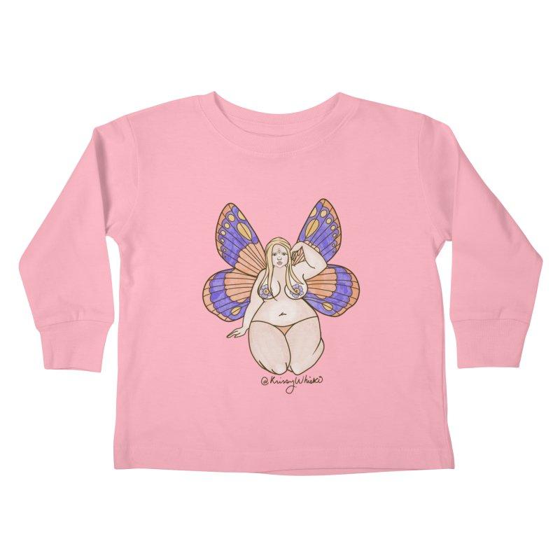 Fat Fairy Kids Toddler Longsleeve T-Shirt by Whiski Tee