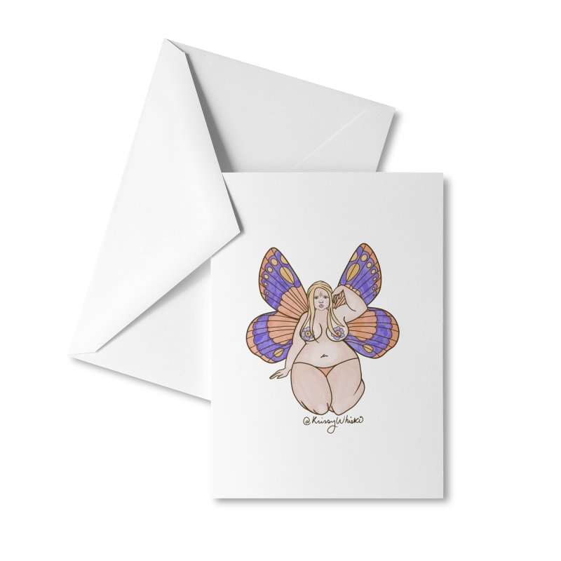 Fat Fairy Accessories Greeting Card by Whiski Tee