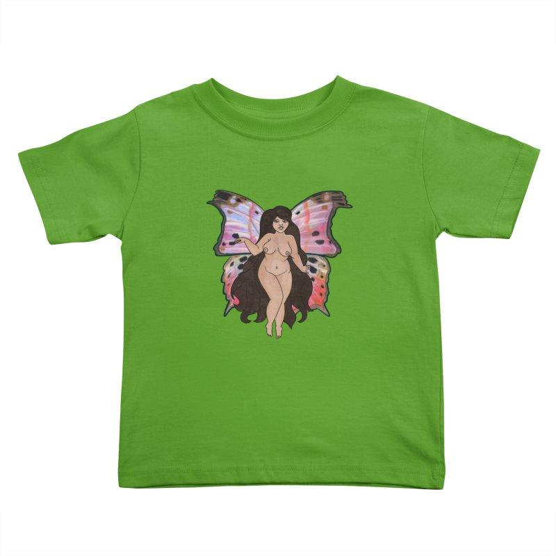 Plus sized Fairy Kids Toddler T-Shirt by Whiski Tee