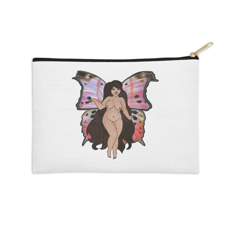 Plus sized Fairy Accessories Zip Pouch by Whiski Tee