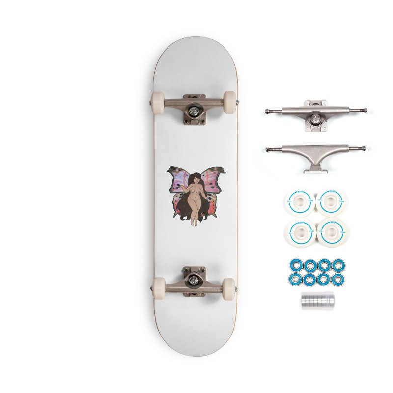 Plus sized Fairy Accessories Skateboard by Whiski Tee