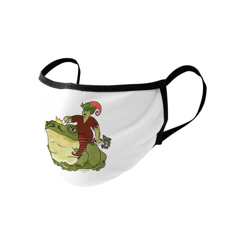 Elf and Frog King Accessories Face Mask by Whiski Tee