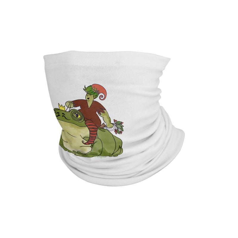 Elf and Frog King Accessories Neck Gaiter by Whiski Tee