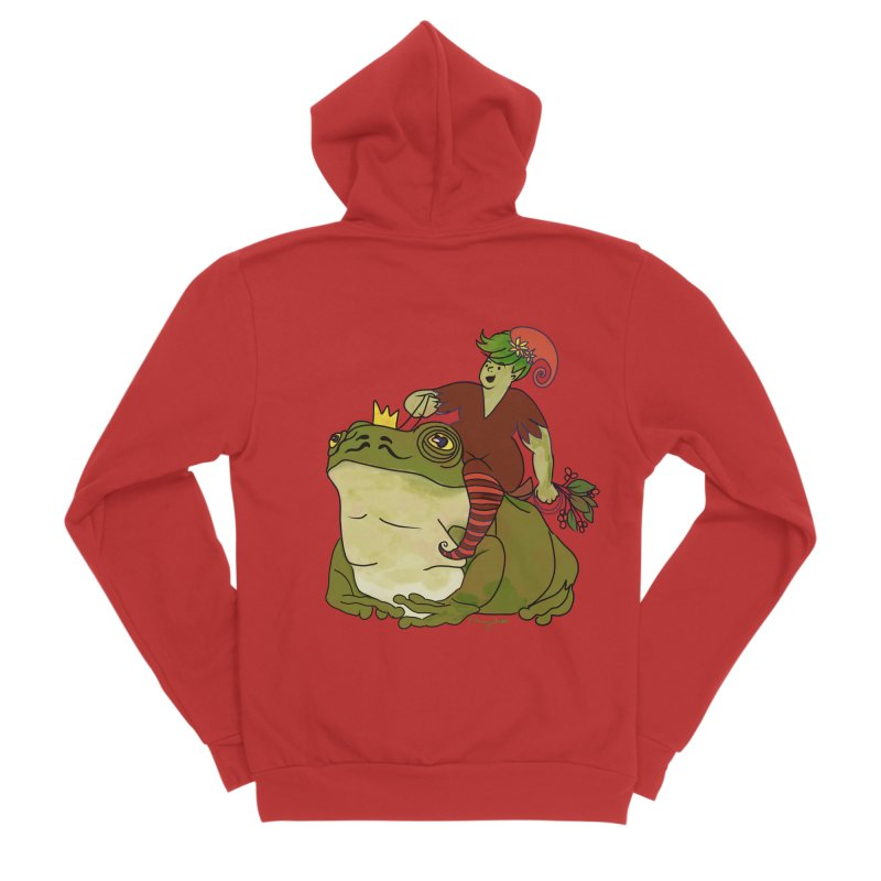 Elf and Frog King Men's Zip-Up Hoody by Whiski Tee