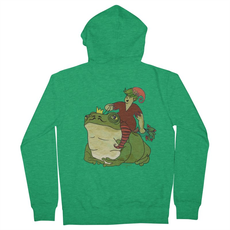 Elf and Frog King Women's Zip-Up Hoody by Whiski Tee