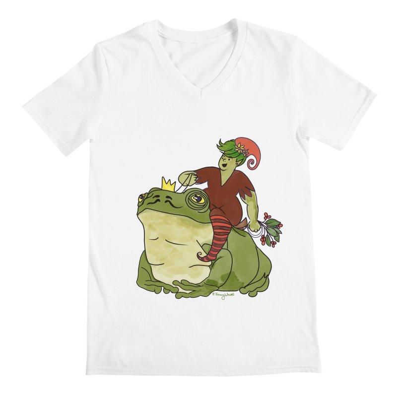 Elf and Frog King Men's V-Neck by Whiski Tee