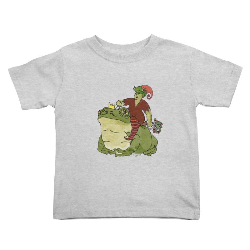 Elf and Frog King Kids Toddler T-Shirt by Whiski Tee