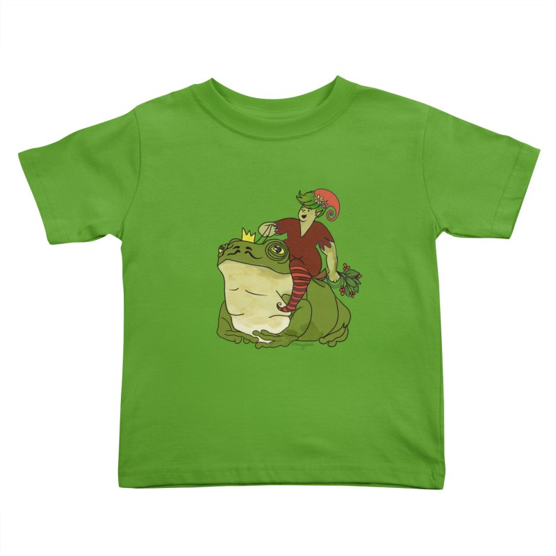 Elf and Frog King Kids Toddler T-Shirt by Whiski Tee