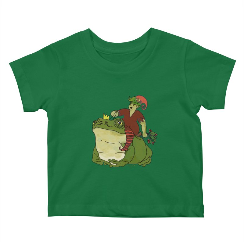 Elf and Frog King Kids Baby T-Shirt by Whiski Tee