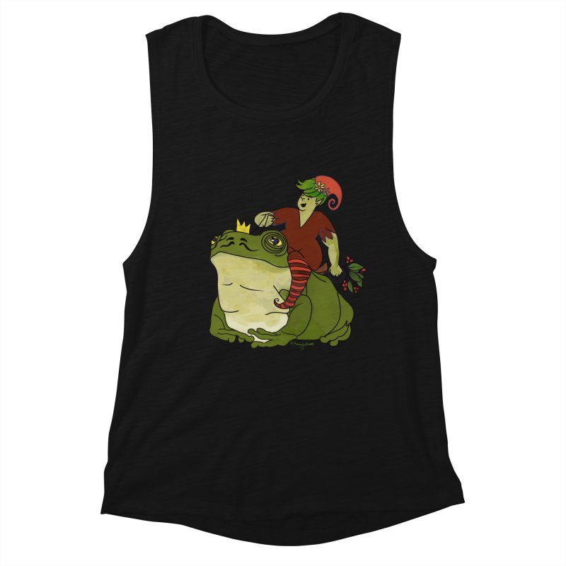 Elf and Frog King Women's Tank by Whiski Tee