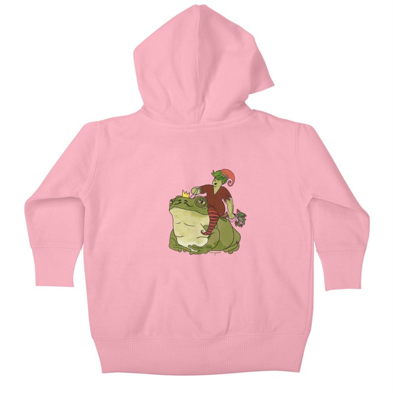 Elf and Frog King Kids Baby Zip-Up Hoody by Whiski Tee