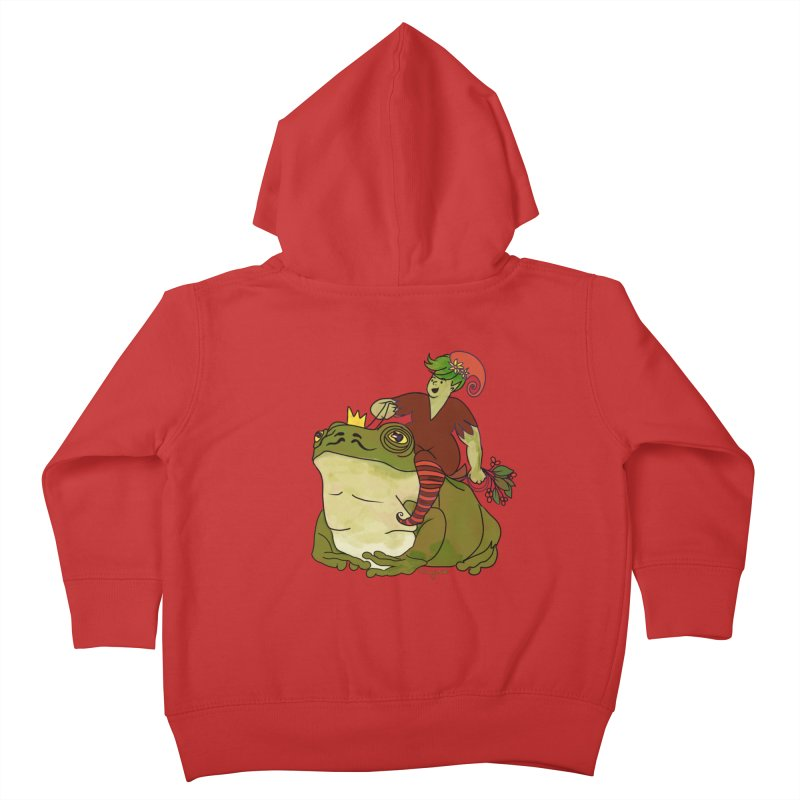 Elf and Frog King Kids Toddler Zip-Up Hoody by Whiski Tee