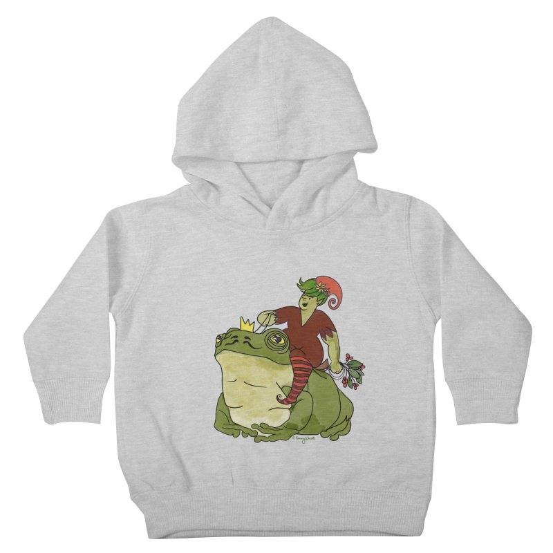 Elf and Frog King Kids Toddler Pullover Hoody by Whiski Tee