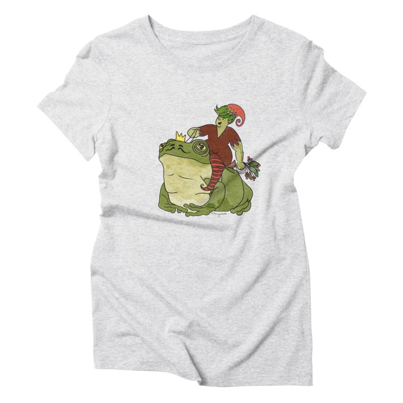 Elf and Frog King Women's T-Shirt by Whiski Tee