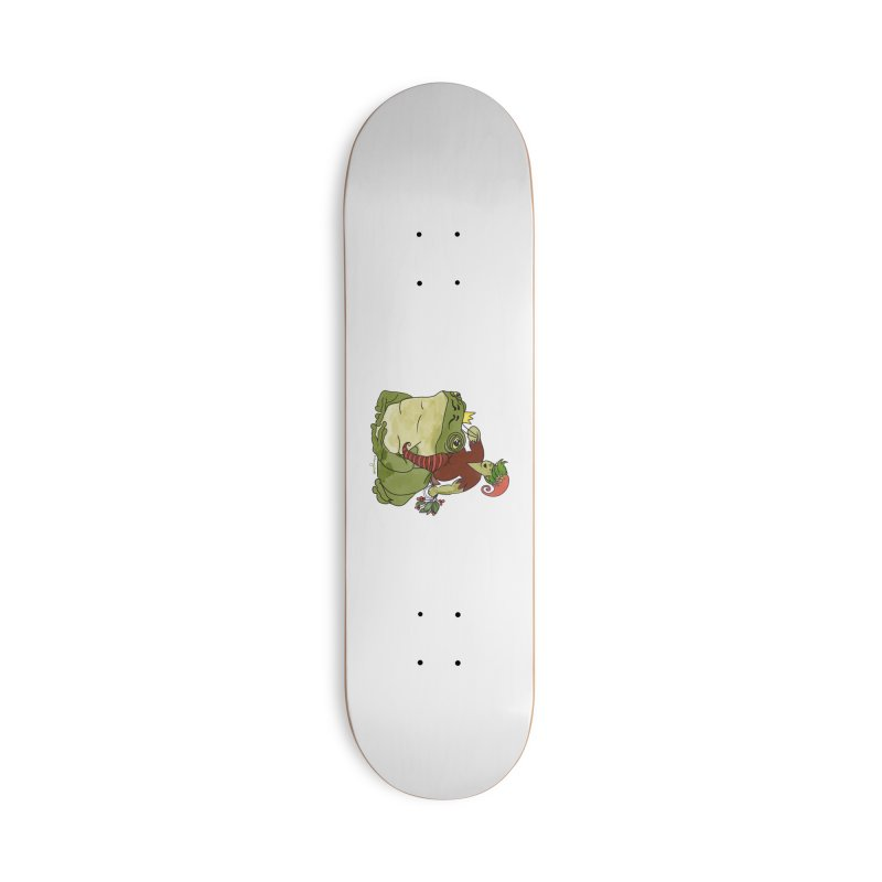 Elf and Frog King Accessories Skateboard by Whiski Tee
