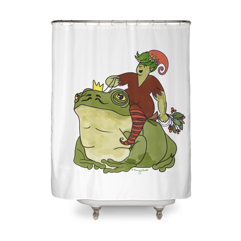 Elf and Frog King Home Shower Curtain by Whiski Tee