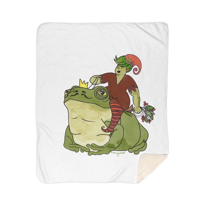Elf and Frog King Home Blanket by Whiski Tee